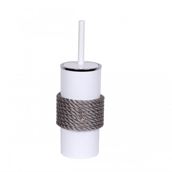 Nautical Rope Bathroom Brush-White Silver