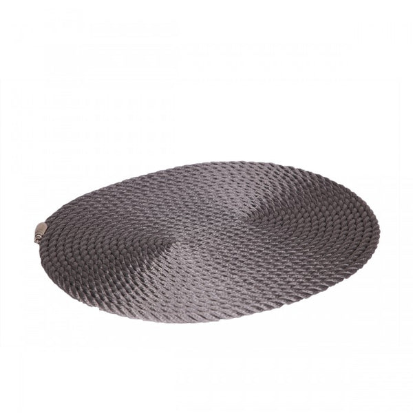 Nautical Rope Oval Placemat-Silver