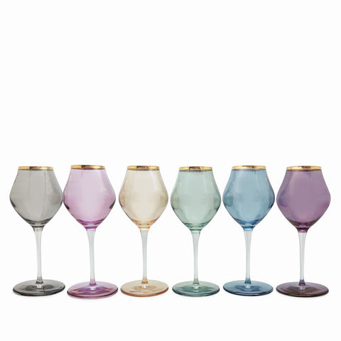Rainbow Crystal Wine Glass-Set of 6