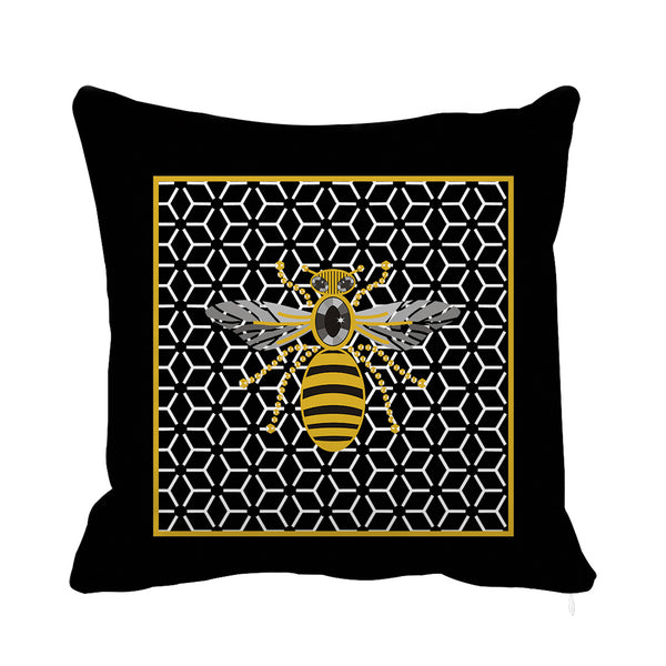 Queen Bee Velvet Cushion