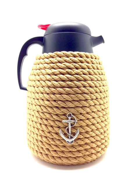 Nautical Rope Thermal Coffee Carafe-Beige