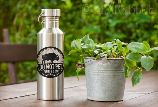 """Do Not Pet Fluffy Cows"" Outdoor/Indoor Waterproof Stickers"