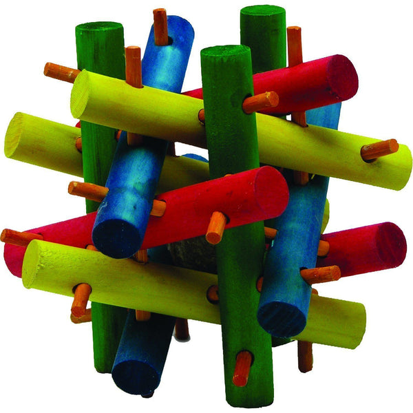 Quality Cage Crafters Toy Kaytee Nut Knot Knibbler Wooden Chew Toy