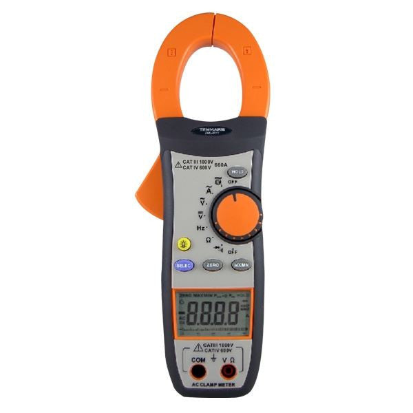 TM-2011 AC Clamp Meter: Measures AC/DC Voltage AC Current Resistance Continuity Diode Frequency