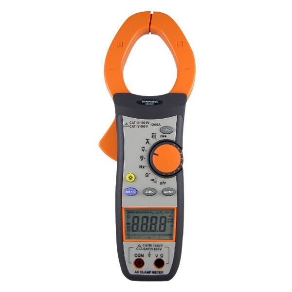 TM-3011 AC Clamp Meter: Measures AC/DC Voltage AC Current Resistance Frequency Diode Continuity