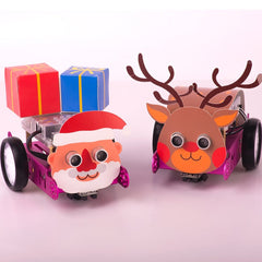 Pink mBot Santa and Reindeer