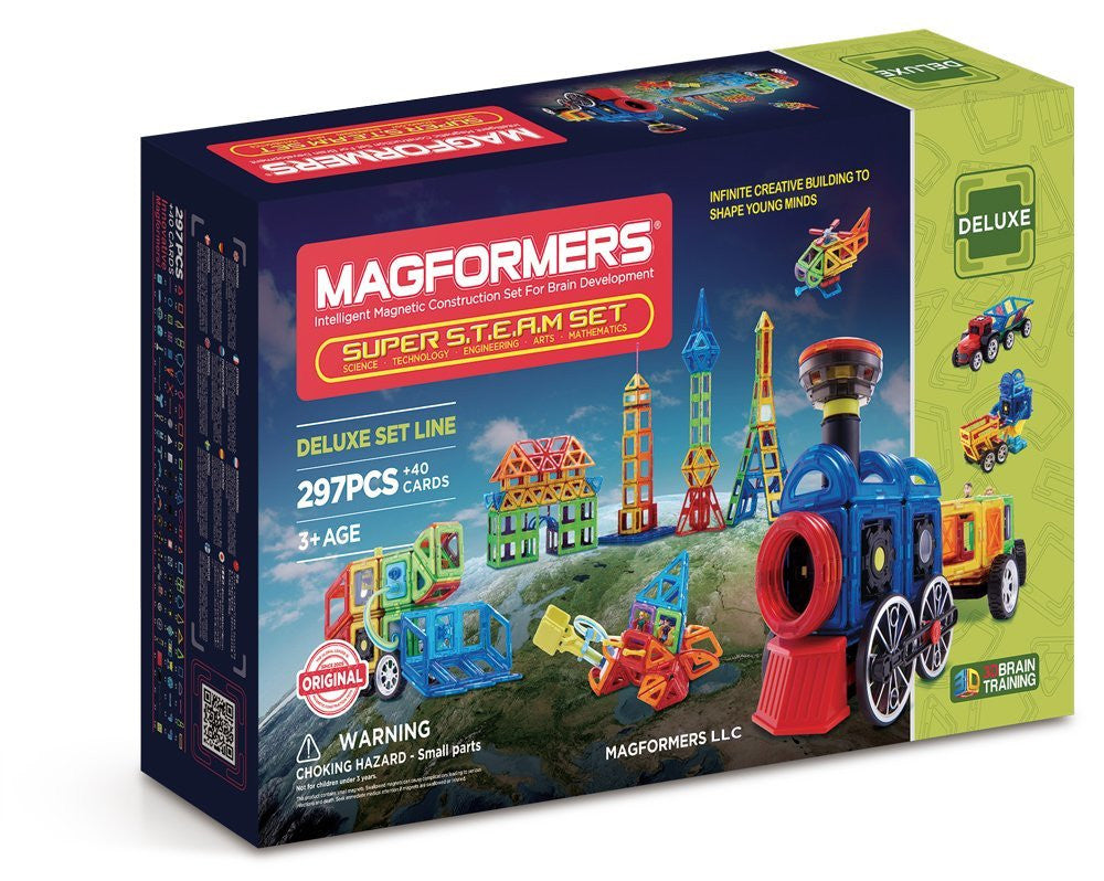 MAGFORMERS Super Steam Set (297 Piece)