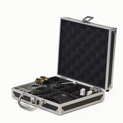Aluminium Electronics Case w/ Organizing Dividers 2D: Safely Store Electronics During Travel