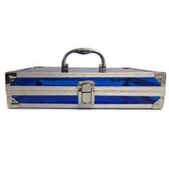 Blue, Sharp, Transparent Acrylic Travel Carrying Case - 22cm x 22cm x 7cm