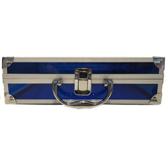 Blue, Sharp, Transparent Acrylic Travel Carrying Case - 30cm x 20cm x 9cm