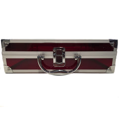 Red, Sharp, Transparent Acrylic Travel Carrying Case - 30cm x 20cm x 9cm