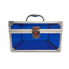 Blue, Sharp, Transparent Acrylic Travel Carrying Case - 22cm x 22cm x 13cm