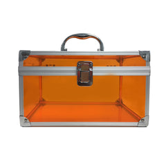 Orange, Sharp, Transparent Acrylic Travel Carrying Case - 26cm * 17cm * 15cm