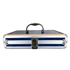 Blue, Rounded, Transparent Acrylic Travel Carrying Case - 22cm x 22cm x 7cm