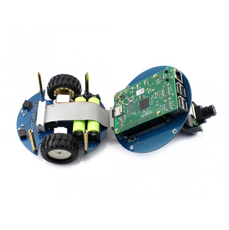Line Tracking Obstacle Avoiding Bluetooth//Infrared//WiFi Remote Control Video Monitoring Waveshare AlphaBot2 Robot Building Kit Designed for Raspberry Pi 3 Model B