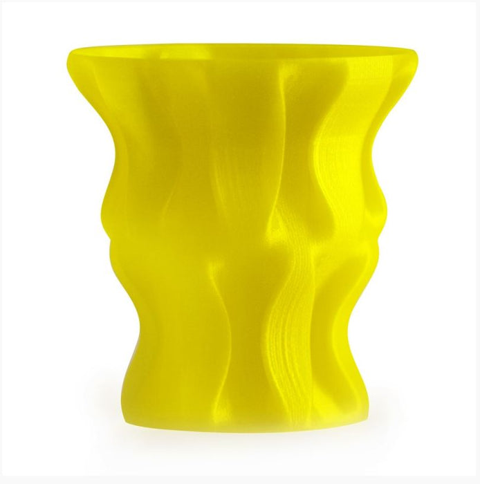3D Printed Yellow Vase
