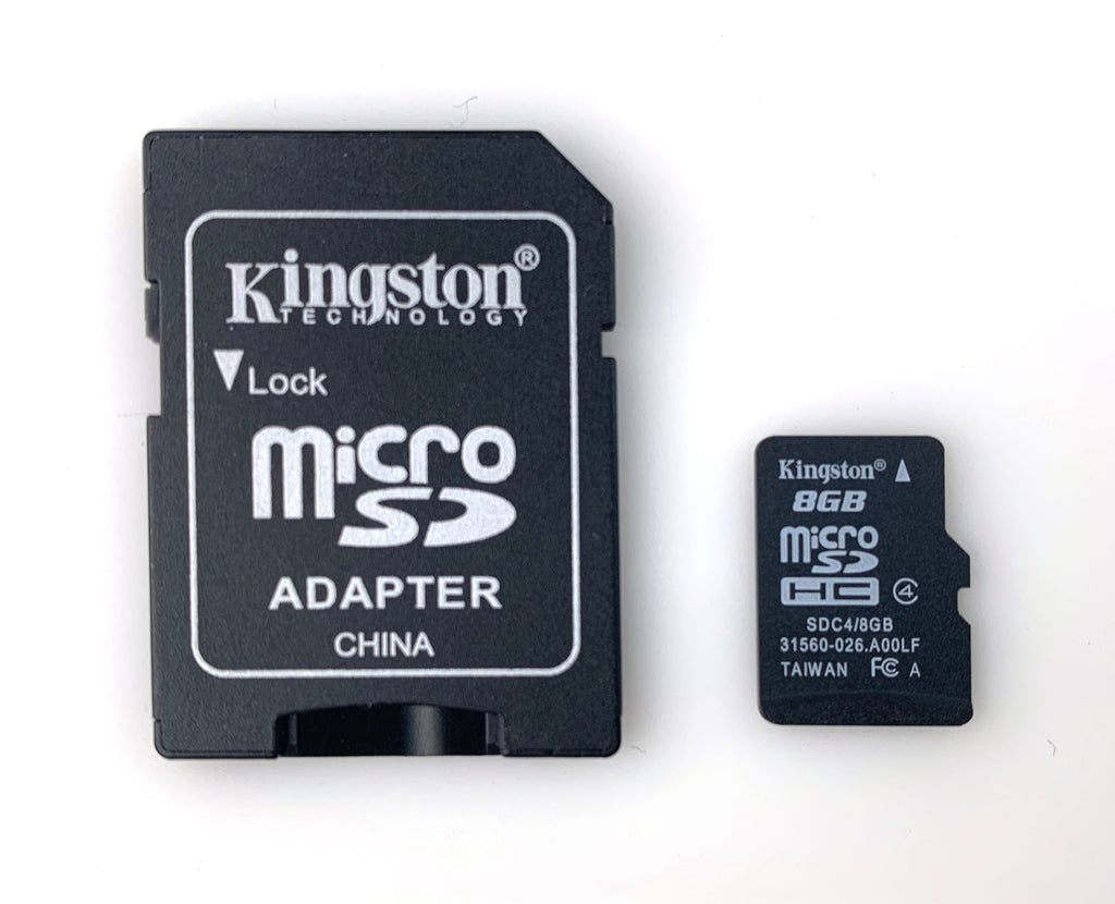 MicroSD Card and Adapter 8GB