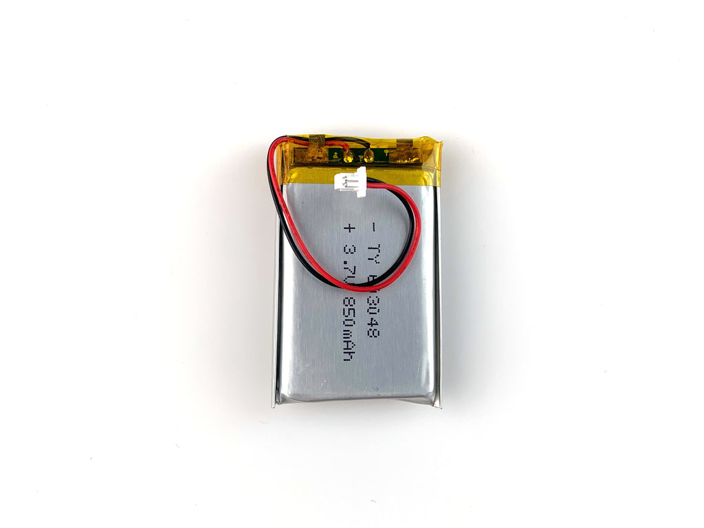 Lithium Ion Polymer Battery - 3.7V 850mAh