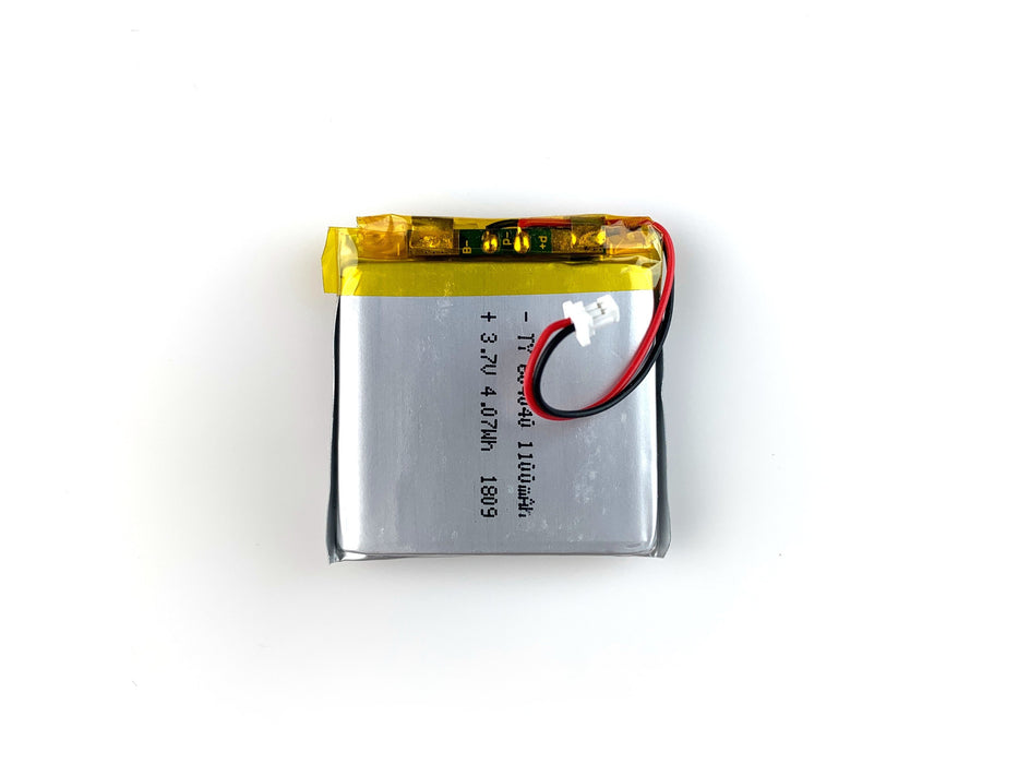 Lithium Ion Polymer Battery - 3.7V 1100mAh
