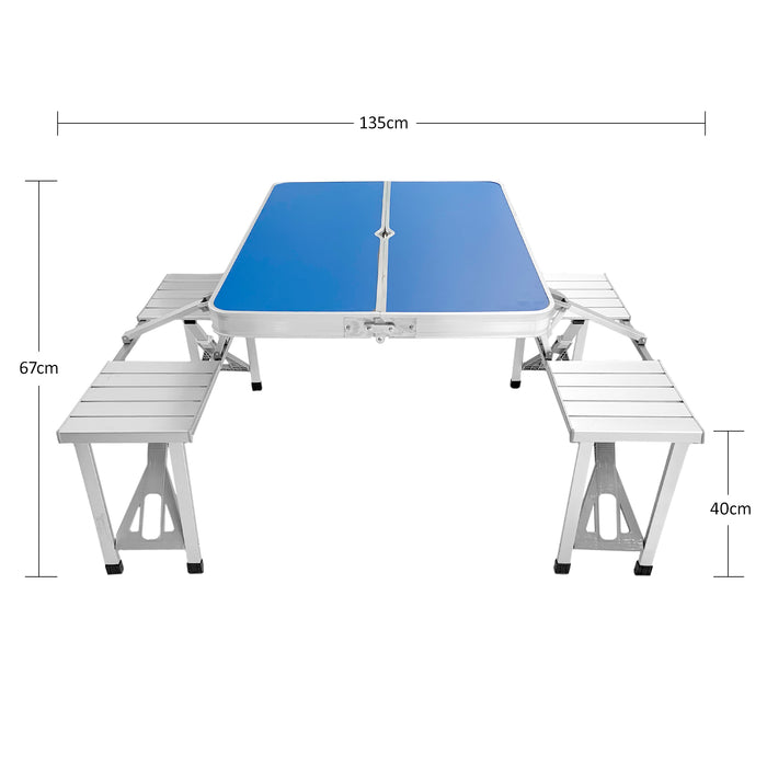 Portable Folding Picnic Table Size