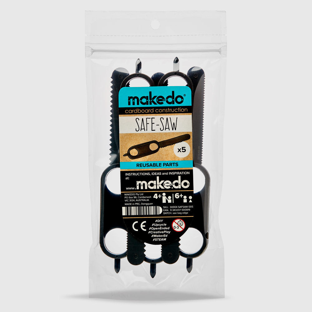 SAFE-SAW 005 -Top up your Makedo cardboard construction tools with:  5x Makedo SAFE-SAW