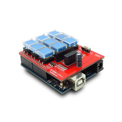 IBridge Lite 3X3 Key-Pad Shield With A 5110 Graphic LCD Interface For Arduino