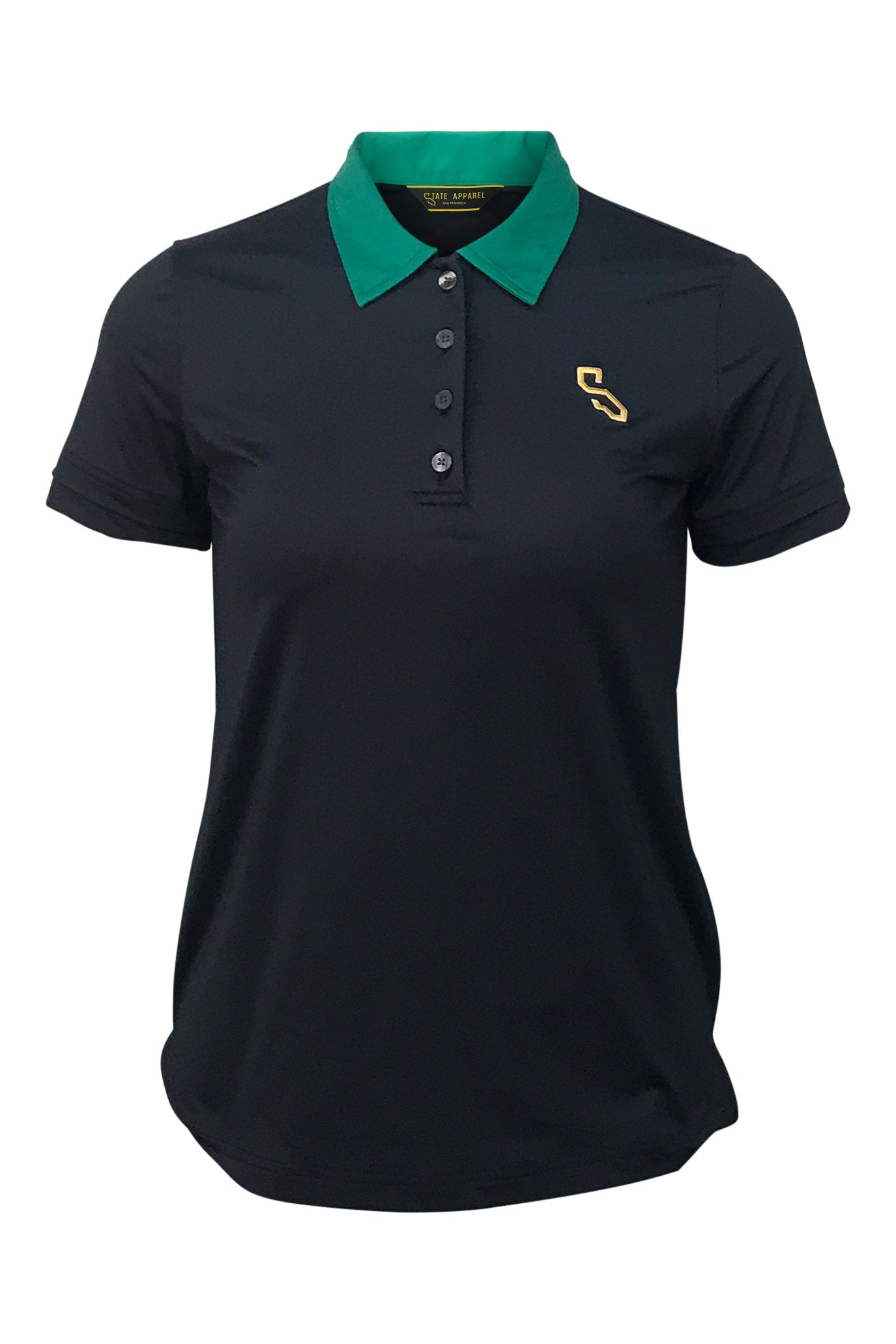 PIXLEY POLO - GREEN COLLAR