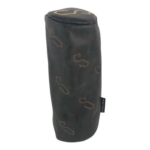 SEAMUS GOLF - BLACK LEATHER FW COVER