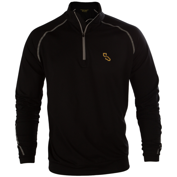 BIARRITZ QUARTER ZIP - BLACK