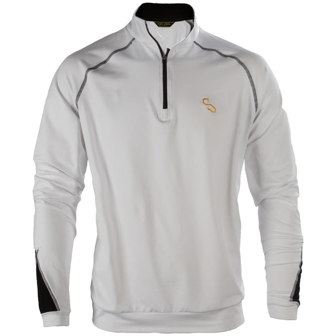 BIARRITZ QUARTER ZIP - WHITE