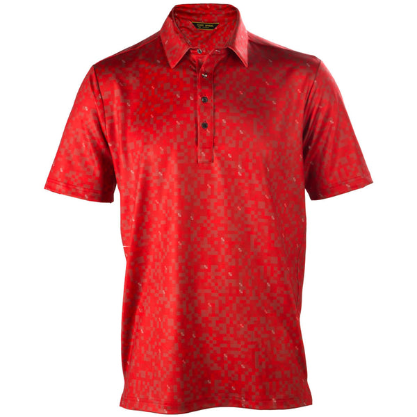 PIXEL POLO - RED