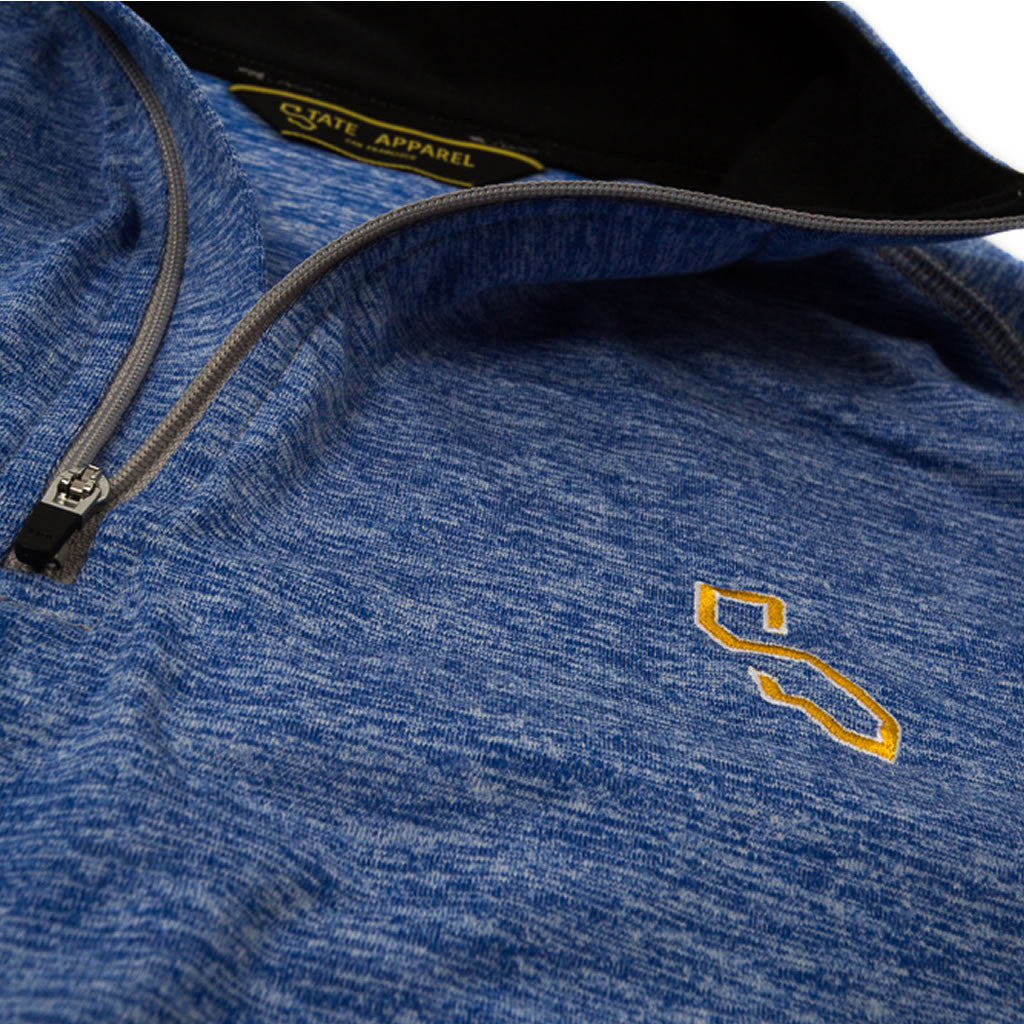 BIARRITZ QUARTER ZIP - HEATHER BLUE