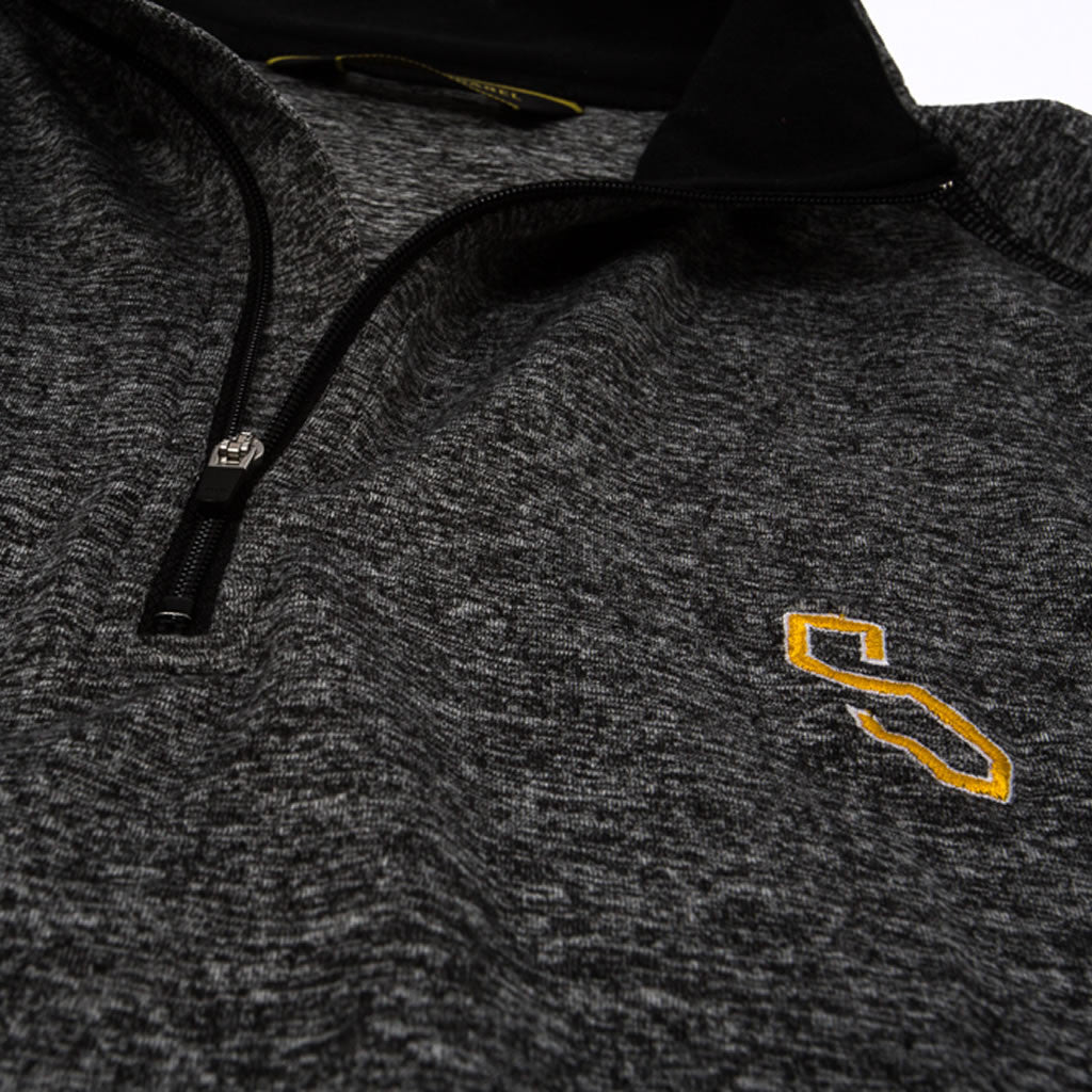 BIARRITZ QUARTER ZIP - HEATHER BLACK