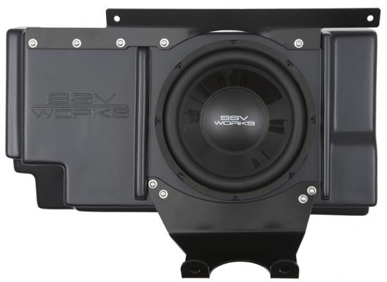 SSV Works Polaris RZR XP 1000 / XP 4 1000 Behind Seat Sub Box with 600 watt 10