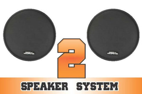 SSV Works Polaris RZR XP 1000, XP Turbo, XP4 1000, XP4 Turbo complete 2 speaker system
