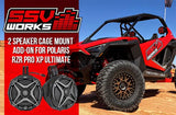 SSV Works Polaris RZR Pro XP complete SSV Works 2 Plug-and-Play Cage Mounted 6.5in Speaker Pods