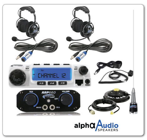 RUGGED RADIO RRP660 2-Person System with 60-Watt Radio and OTU Headsets