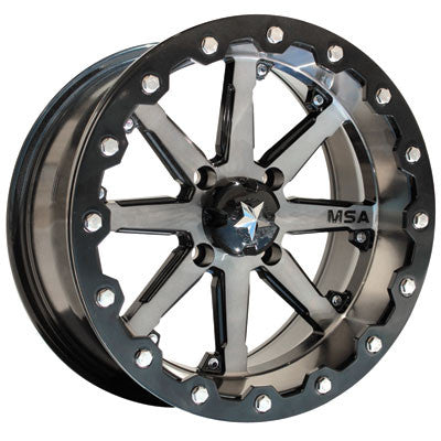 Motosport Alloys M21 Lok Beadlock Wheel 16x7 4/156 3.5 + 3.5 Machined/Black