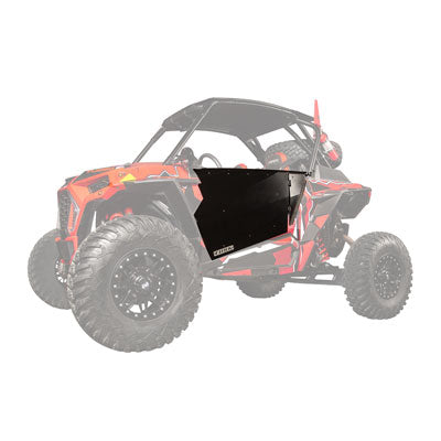 POLARIS RZR Full Barrier Doors Black Powder Coated by Tusk