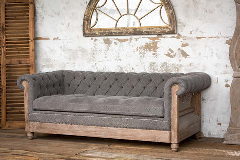 PARK HILL COLLECTION DECONSTRUCTED CHESTERFIELD, RESTORATION HARDWARE DECONSTRUCTED FURNITURE FOR SALE