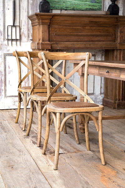 wooden farmhouse cross back chairs park hill collection