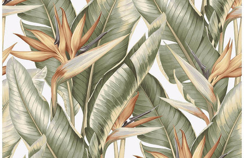 banana leaf wallpaper,tropical wallpaper for walls,the alley exchange