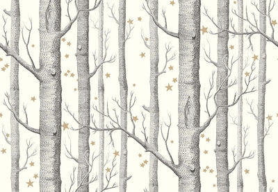 cole and son woods and stars wallpaper black and white, cole and son birch tree wallpaper for sale