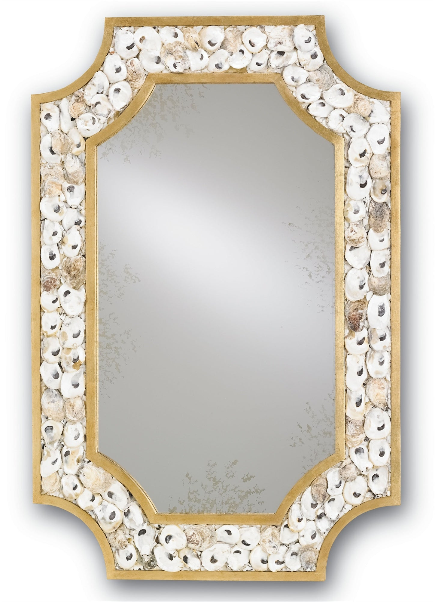 sea shell mirror currey and company, margate mirror currey and company for sale