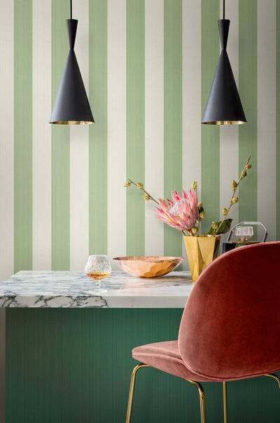 cole and son jaspe stripe marquee wallpaper green