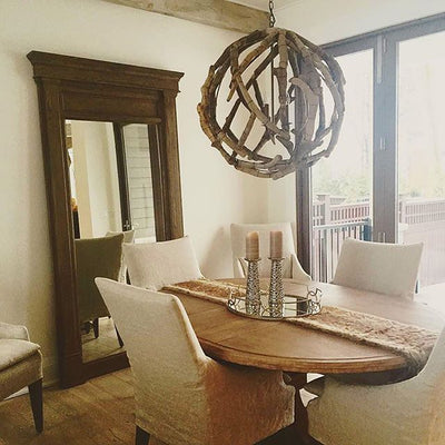 rustic wooden chandelier for sale, orb chandeliers for seaside coastal home