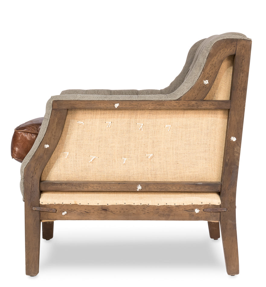 Bracy Deconstructed Leather Club Chair