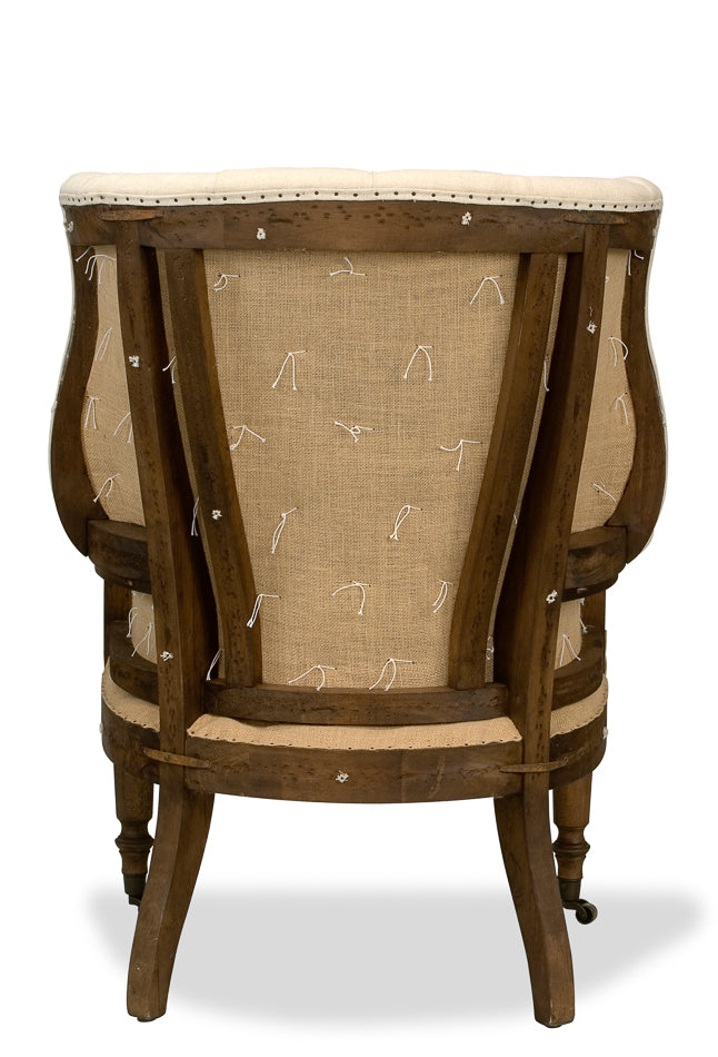 DECONSTRUCTED 19TH C. ENGLISH WING CHAIR, restoration hardware deconstructed wing chair for sale