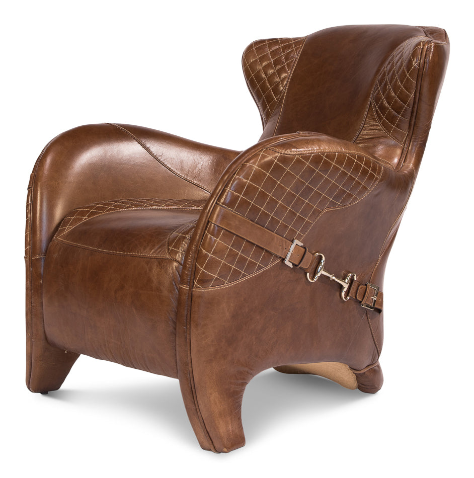 western style leather lounge chair, western leather arm chair for sale