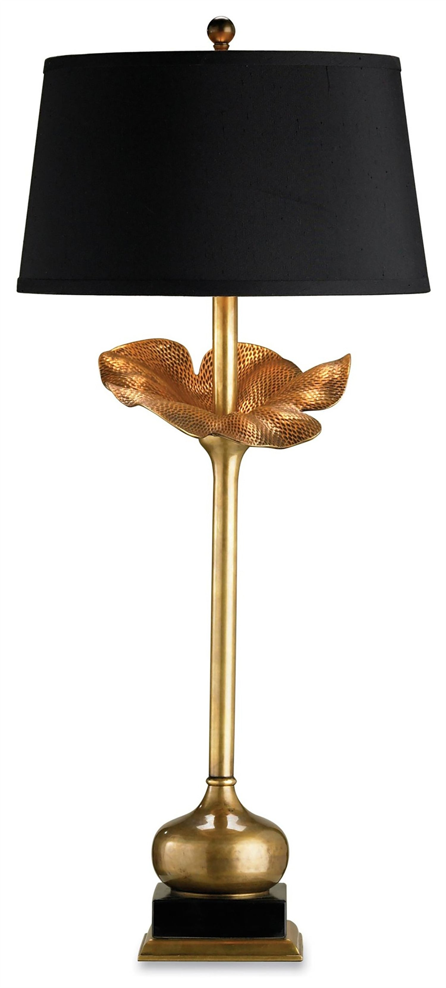 currey and company metamorphosis table lamp Modern Brass and black table lamps for sale